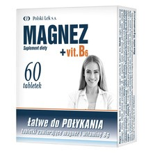 Magnez + Vit.B6, tabletki, 60 szt. (Polski Lek)