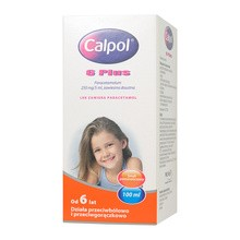 Calpol 6 Plus, (250 mg/5 ml), zawiesina doustna, 100 ml