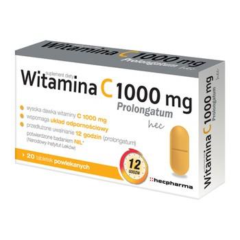 Witamina C 1000 mg Prolongatum hec, tabletki, 20 szt.