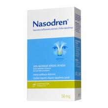 Nasodren, aerozol do nosa, 1 zestaw (50 mg liofilizat + 5 ml rozpuszczalnik + dozownik)