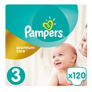 Pampers Premium Care 3, (5-9kg), 120 szt.