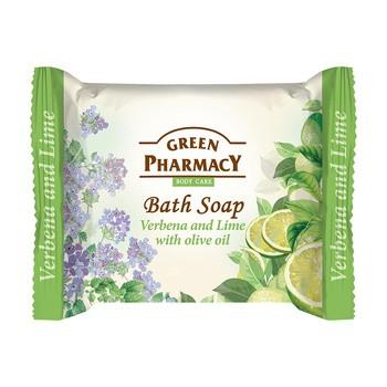 Green Pharmacy, mydło w kostce, werbena, limonka i oliwa z oliwek, 100 g