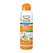 Equilibra Aloe, mleczko do opalania dla dzieci SPF 50+, spray, 150 ml