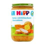 HiPP BIO dynia z ziemniaczkami i kurczakiem, po 11. miesiącu, 220 g