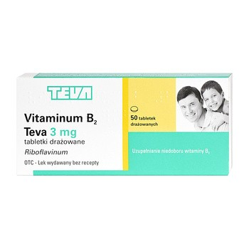 Vitaminum B2 Teva, 3 mg, tabletki drażowane, 50 szt.