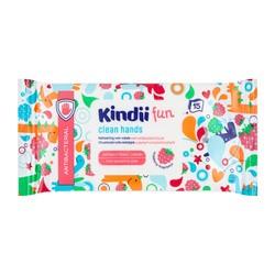 Kindii Fun, chusteczki odświeżające z płynem antybakteryjnym, 15 szt.