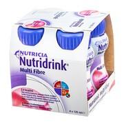 Nutridrink Multi Fibre, smak truskawkowy, płyn, 4 x 125 ml