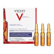Vichy Liftactiv Specialist Glyco-C, skoncentrowana kuracja przeciw przebarwieniom na noc z kwasem glikolowym, 30 ampułek x 2 ml