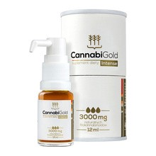 CannabiGold Intense, 3000 mg CBD, 12 ml