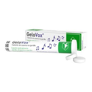 GeloVox, tabletki do ssania na gardło, porzeczkowo-mentolowe, 20 szt.