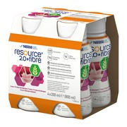 Resource 2.0+Fibre, płyn o smaku owoców leśnych, 4 x 200 ml