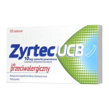 Zyrtec UCB, 10 mg, tabletki powlekane, 10 szt.