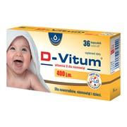 D-Vitum 400 j.m., witamina D dla niemowląt, kapsułki twist-off, 36 szt.
