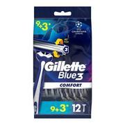 Gillette Blue3 Comfort, maszynka jednorazowa dla mężczyzn, 12 szt.