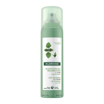 Klorane, suchy szampon z wyciągiem z pokrzywy, 150 ml