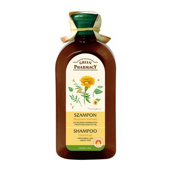 Green Pharmacy, szampon z nagietkiem lekarskim, włosy normalne i przetłuszczające się, 350 ml