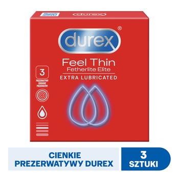Feel Thin Fetherlite Elite, prezerwatywy ultracienkie, 3 szt.
