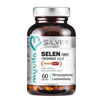 MyVita Silver Selen Forte z witaminami A + C + E, kapsułki, 60 szt.