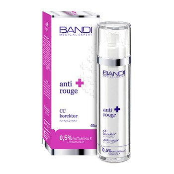 Bandi Medical Expert Anti-Rouge, CC Korektor na naczynka, 0,5% witamina E + witamina K, 50 ml