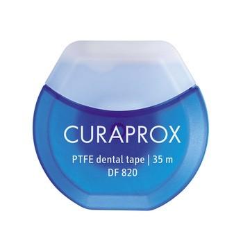 Curaprox, nić dentystyczna, teflonowa, DF 820, 35 m