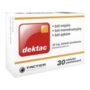 Dektac, 25 mg, tabletki powlekane, 30 szt.