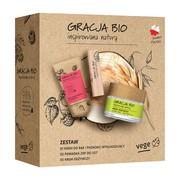 Zestaw Promocyjny Gracja Bio, krem odżywczy, ekstrakt z owsa, 50 ml + krem do rąk i paznokci, malina, 50 ml + pomadka do ust 2w1, owoc noni, 5 g
