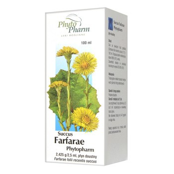 Succus Farfarae (Sok z podbiału), płyn doustny, 100 ml