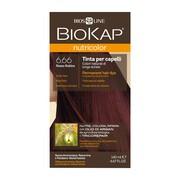 Biokap Nutricolor, farba do włosów, 6.66 rubinowa czerwień, 140 ml
