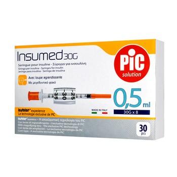 Strzykawki insulinowe, Insumed, 0,5 ml, 30Gx8mm, 30 szt.