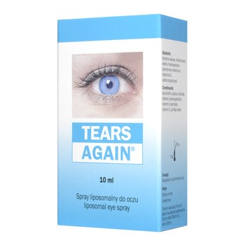 Tears Again, spray liposomalny do oczu, 10 ml