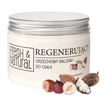Fresh&Natural, regenerujący, orzechowy balsam do ciała, 500 ml
