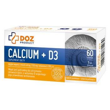 DOZ PRODUCT Calcium + D3, tabletki powlekane, 60 szt.