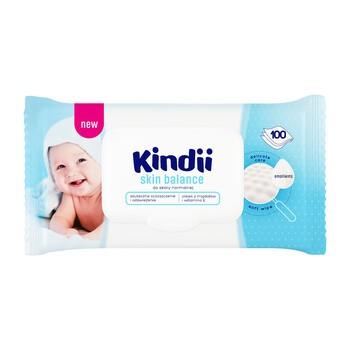 Cleanic Kindii Skin Balance, chusteczki nawilżane dla niemowląt i dzieci, 100 szt.