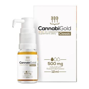 CannabiGold Classic 500 mg, krople, 12 ml