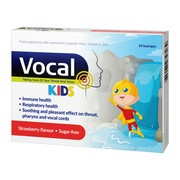 Vocal Kids truskawka, pastylki do ssania, miękkie, 24 szt.