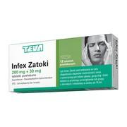 Infex Zatoki, 200 mg + 30 mg, tabletki powlekane, 12 szt.
