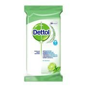 Dettol chusteczki do mycia i dezynfekcji powierzchni, limonka i mięta, 36 szt.