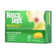 Hascosept smak cytrynowo-miodowy, 3 mg, pastylki twarde, 24 szt.