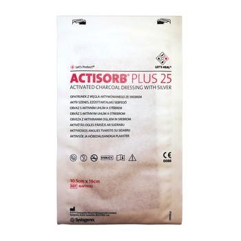 Actisorb Plus 25, opatrunek, 19 cm x 10,5 cm, 1 szt.