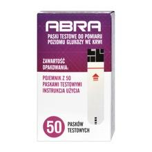 Abra, paski testowe do pomiaru poziomu glukozy we krwi, 50 szt.