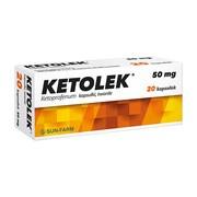Ketolek, 50 mg, kapsułki twarde, 20 szt.