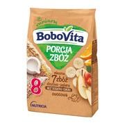 BoboVita Porcja Zbóż, kaszka mleczna 7 zbóż, jaglano-owocowa, 8 m+, 210 g