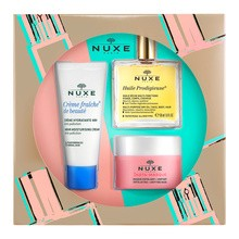 ZestawPromocyjny Nuxe Discovery, suchy olejek o wielu zastosowaniach, 50 ml + złuszczająca maska ujednolicająca, 50 ml + krem nawilżający, 48h, 30 ml