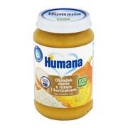 Humana 100% Organic, obiadek dynia z ryżem i kurczakiem, bez dodatku soli, 6 m+, 190 g
