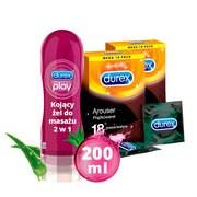 Zestaw 2x Durex Arouser, prezerwatywy, 18 szt. + żel