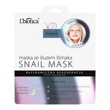 L`Biotica Snail Mask, maska ze śluzem ślimaka na tkaninie, 23 ml