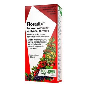 Floradix, żelazo i witaminy, płyn, 250 ml