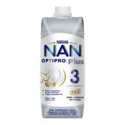Nan Optipro Plus 3 HM-0, mleko modyfikowane w płynie dla dzieci po 1. roku, 500 ml