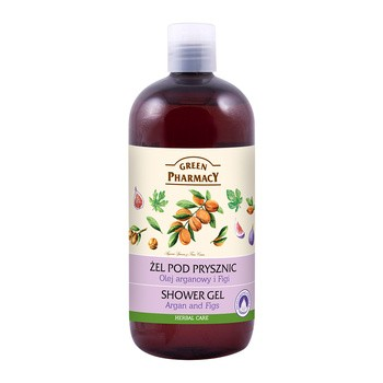 Green Pharmacy, żel pod prysznic, olejek arganowy i figi, 500 ml