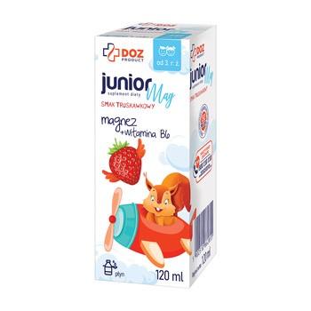 DOZ PRODUCT JuniorMag, płyn, smak truskawkowy, 120 ml